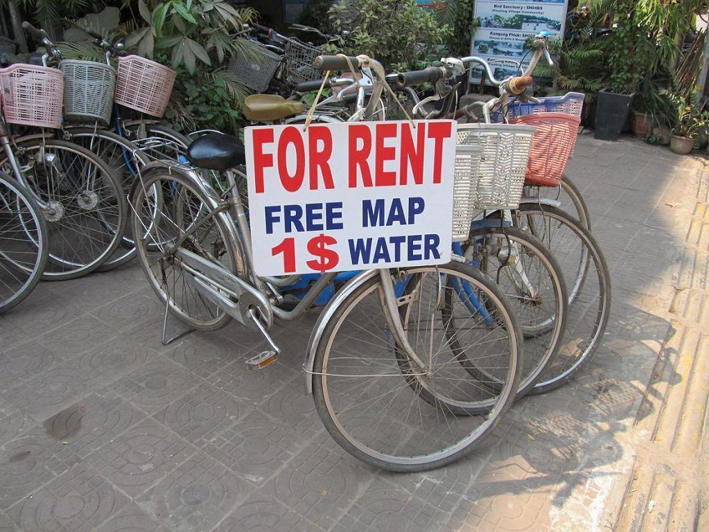 Kambodžská půjčovna kol