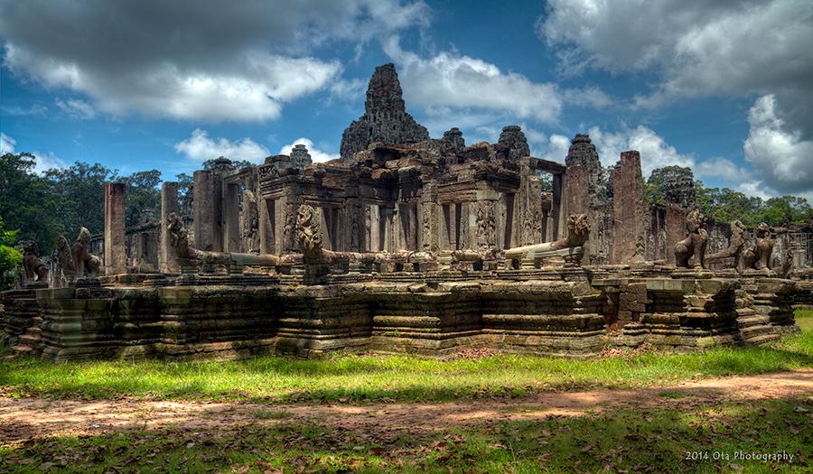 Kambodža s fotografem - Nágy v Bayonu