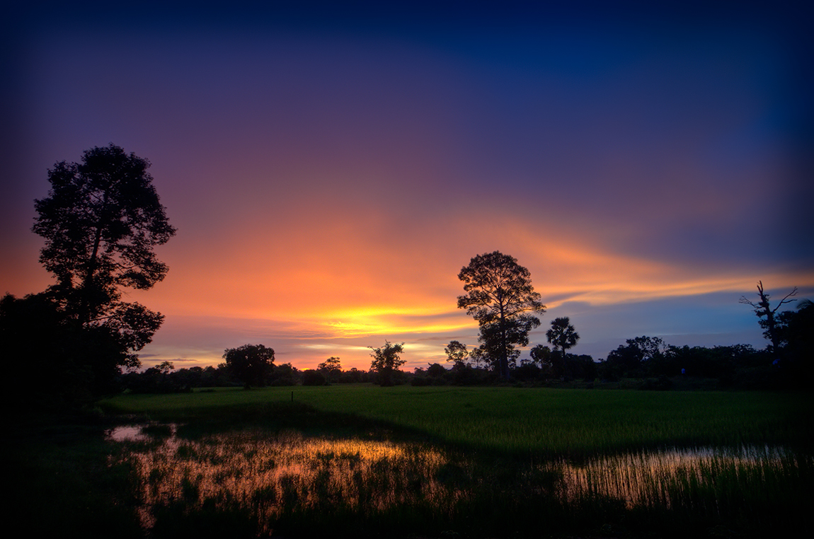 Kambodža s fotografem - Východ Slunce