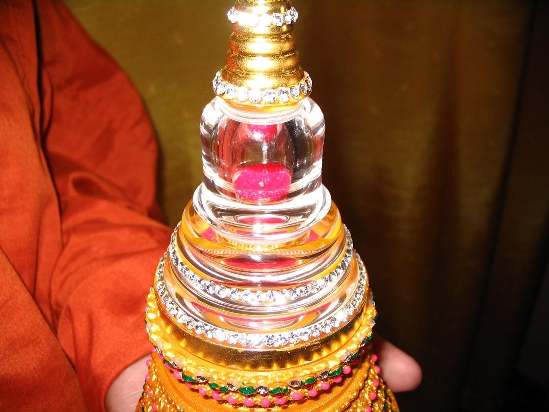 Buddhova relikvie - Kambodža, Phnom Penh, Wat Kultoteng