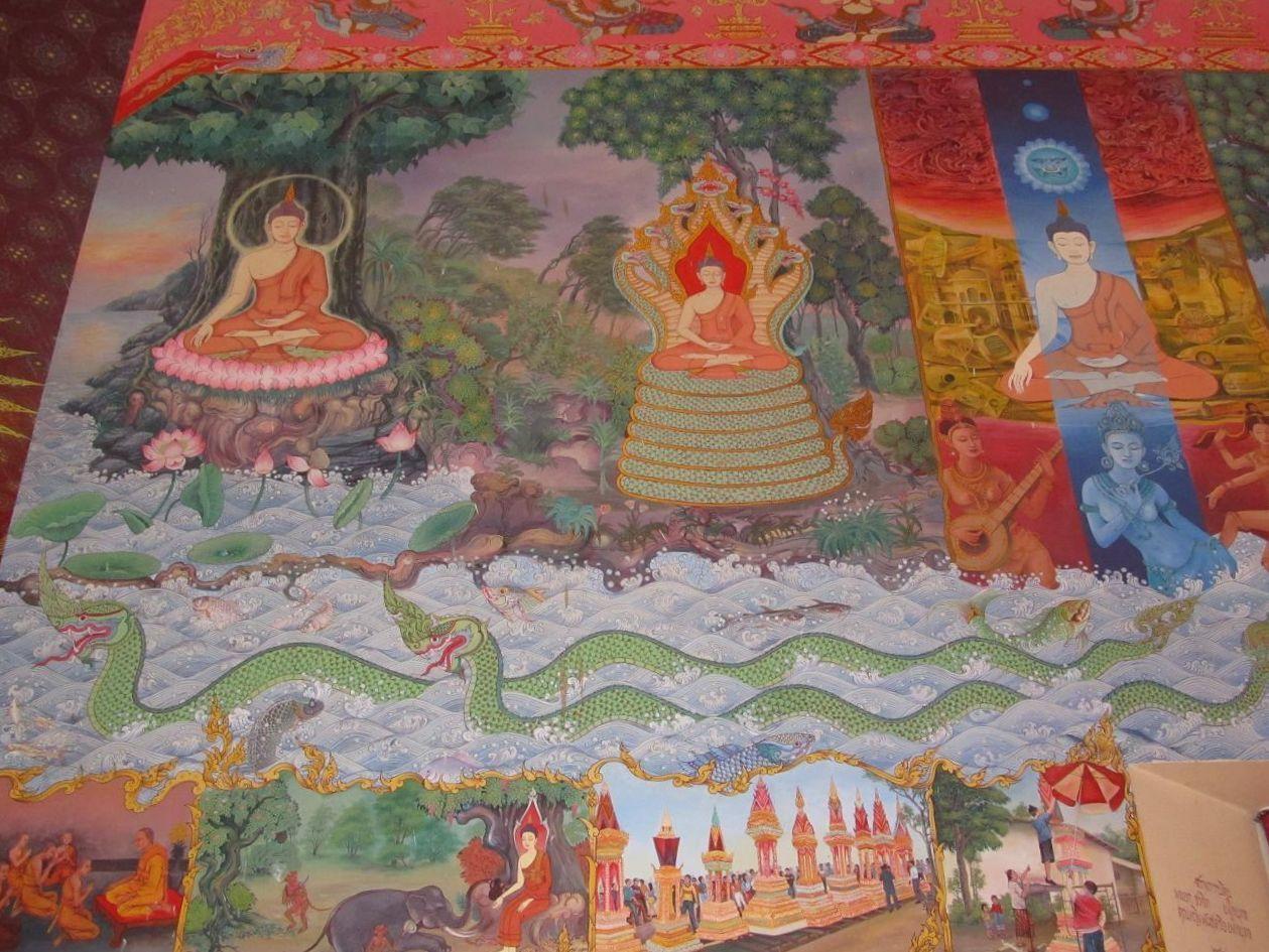 Naga - malba Wat Pho Chai - Nong Khai
