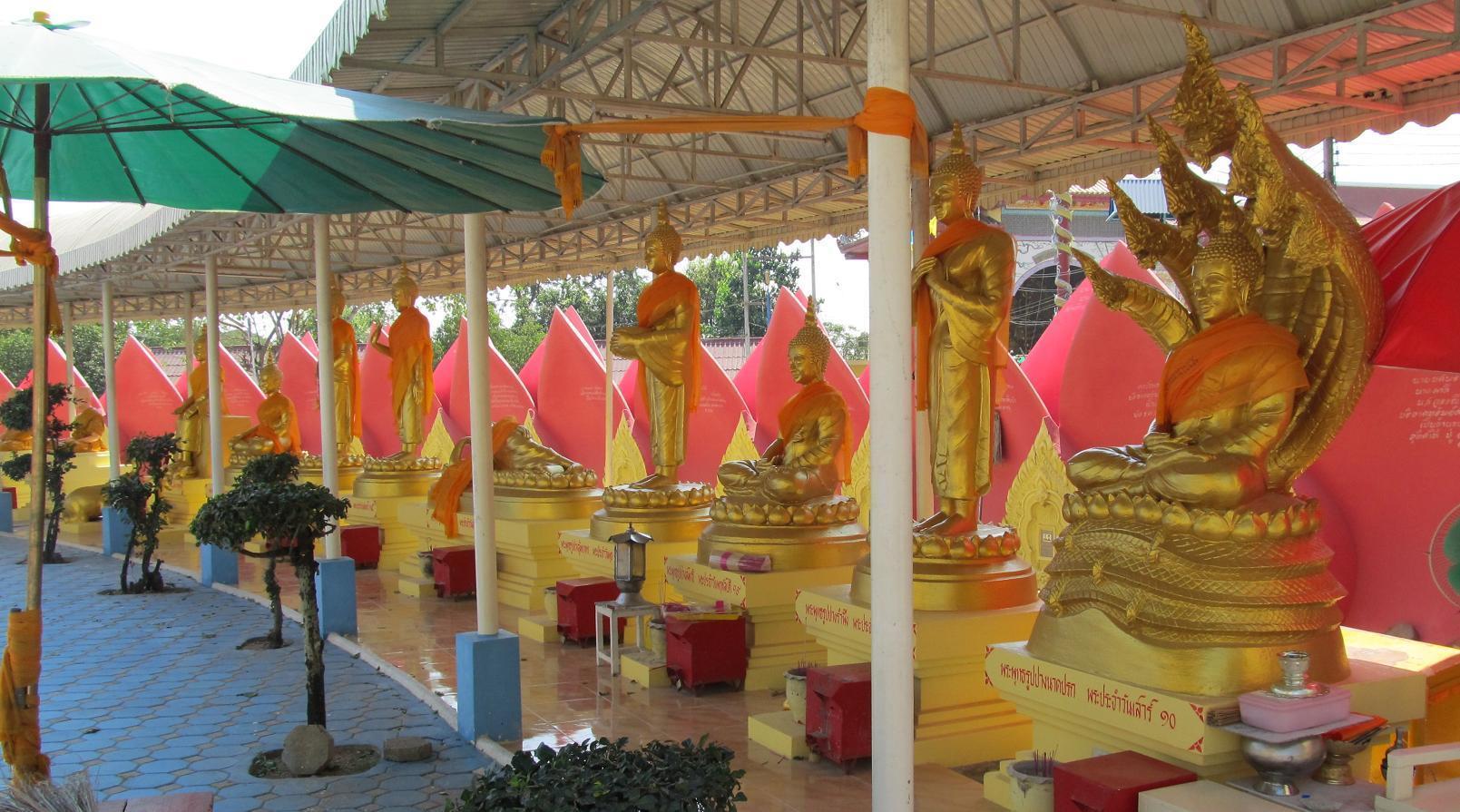 Okvětní plátky zevnitř - Wat Muang Thajsko
