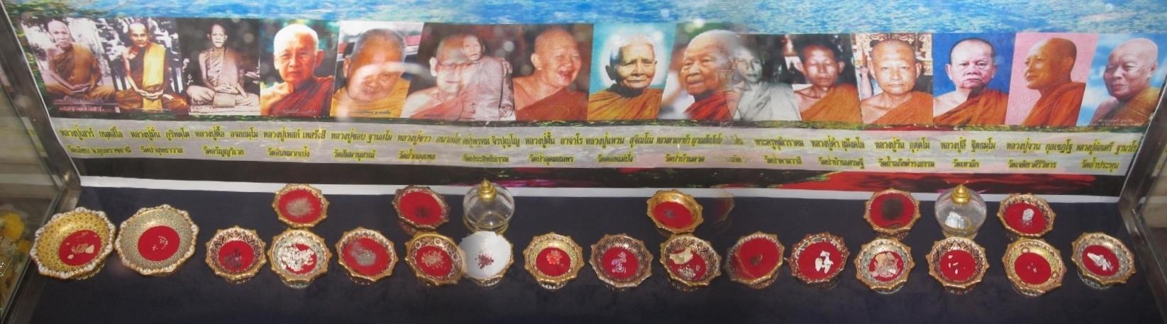Wat Tham A Pai - vystavene relikvie