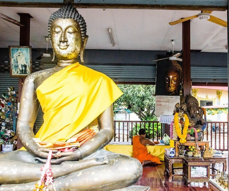 Buddha a Ganéša, Wat Plai Laem, Ko Samui, Thajsko