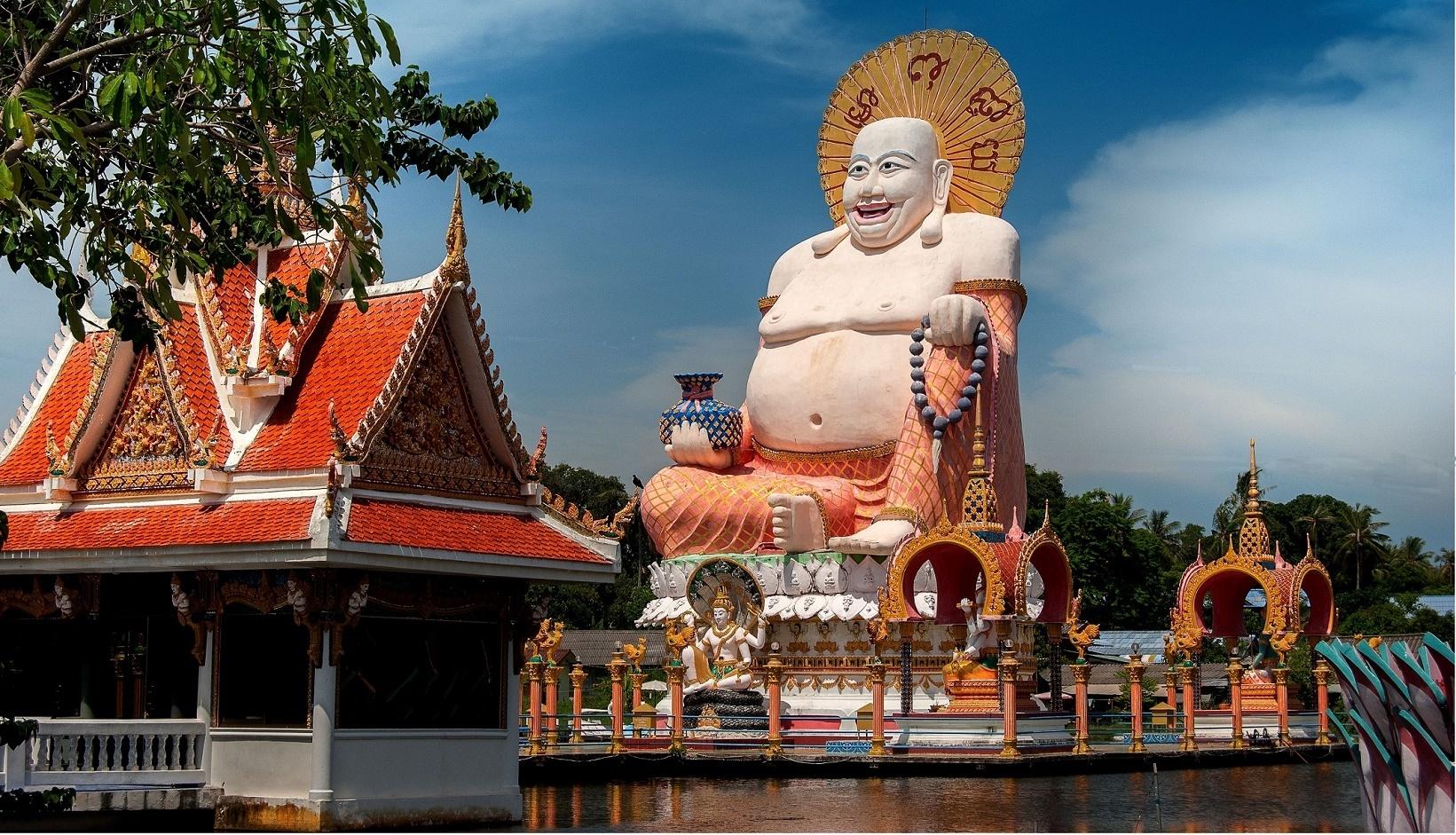 Cinsky Bodhisattva Wat Plai Laem, Ko Samui, Thajsko