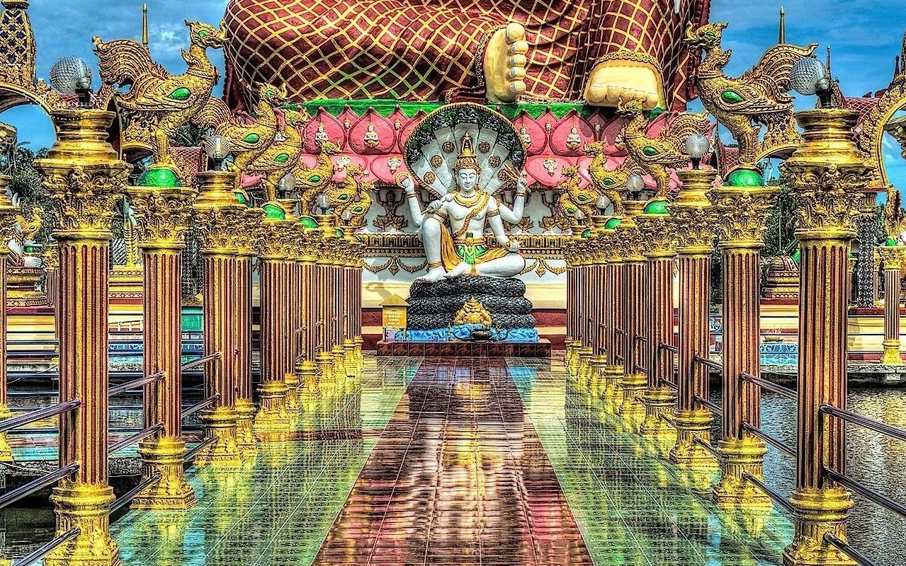 Višnu - Wat Plai Laem, Ko Samui, Thajsko