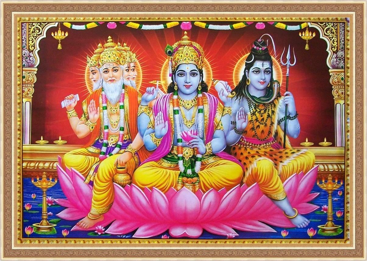 SVATÁ TROJICE -Brahma Višnu Šiva