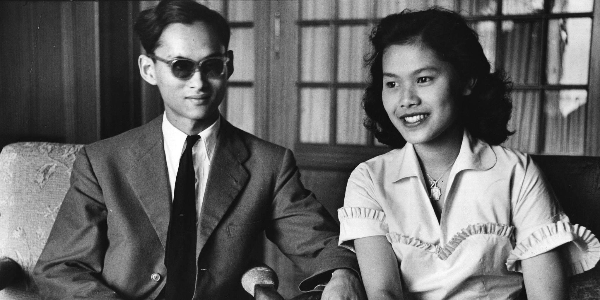 Thajský král Ráma IX před svatbou 14.1.1950