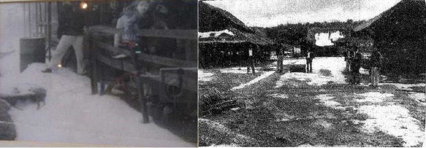 Sníh v Chiang Rai Thajsko 1955