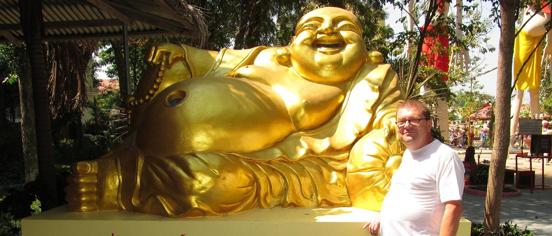 Čínský Buddha - Wat Muang - Ang Thong - Thajsko