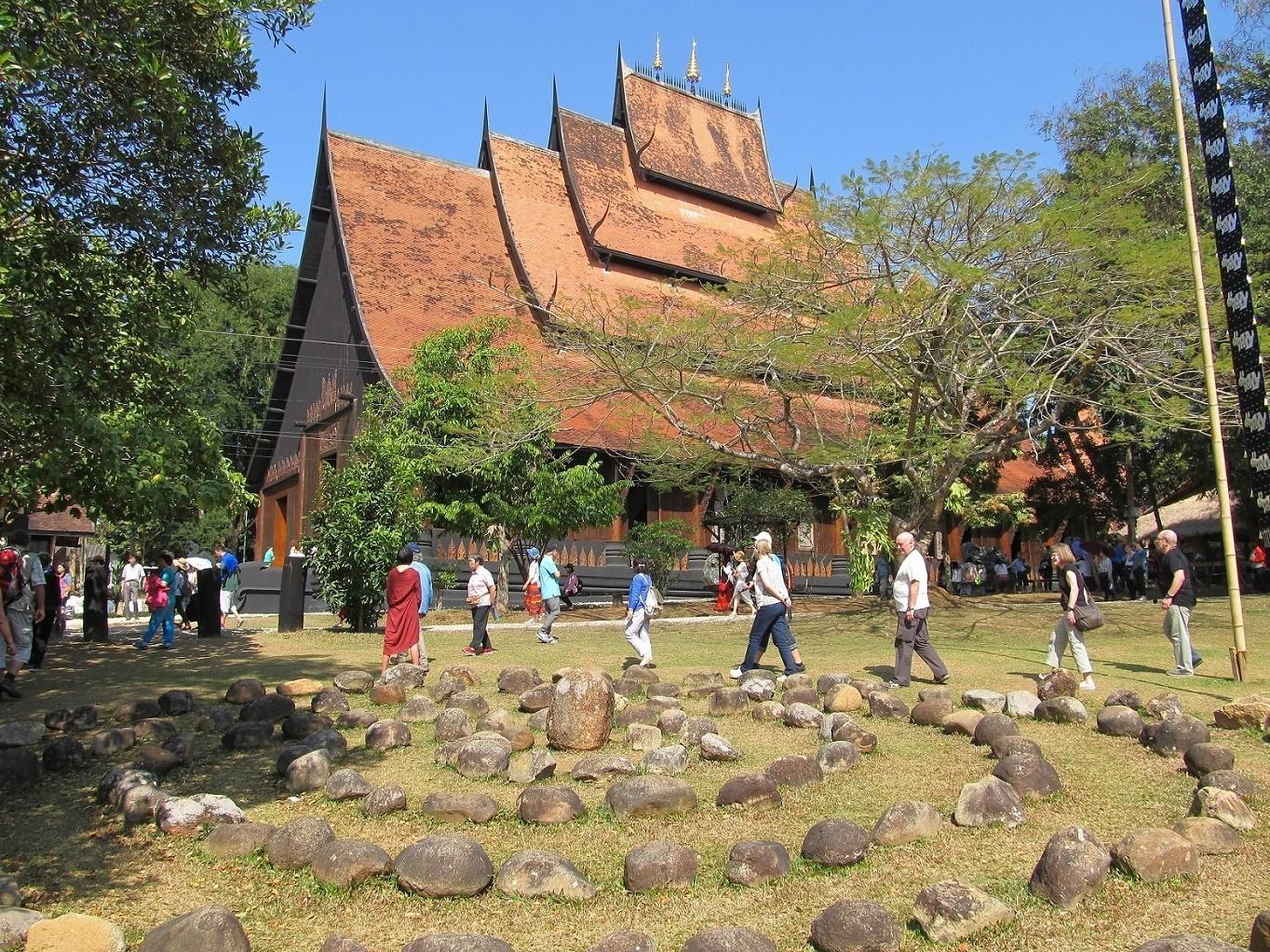 Černý klášter - Chiang Rai - Thajsko