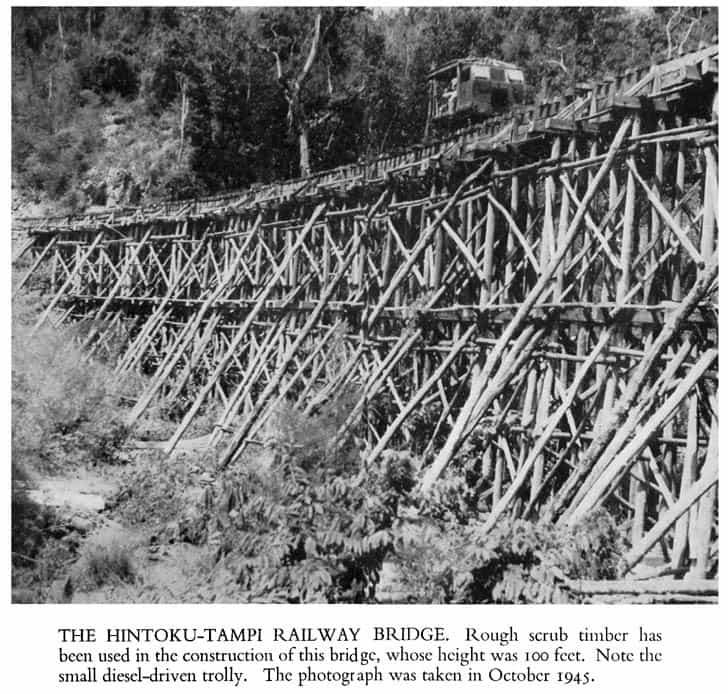 Původní konstrukce Železnice smrti HINTOKU-TAMPI