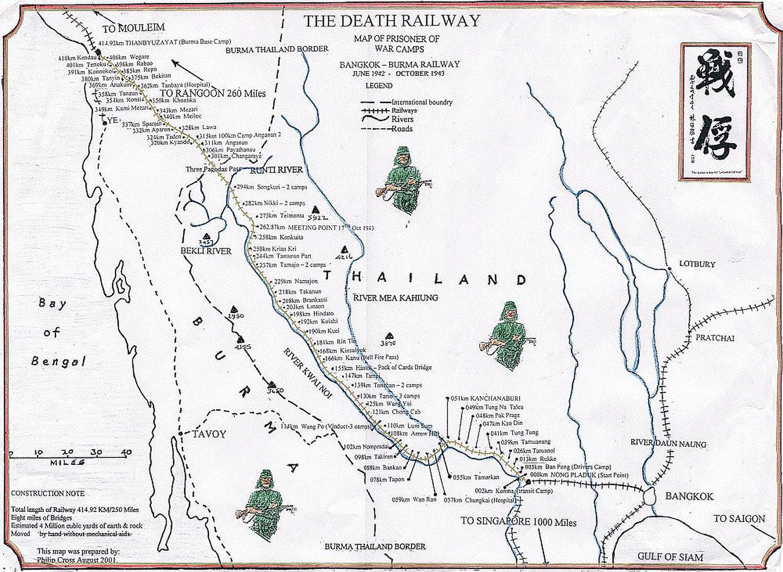 Mapa táborů POW