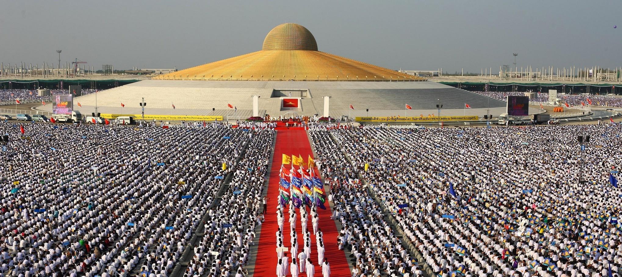 Slavnostní ceremonie - Dhammakaya Cetiya - Thajsko