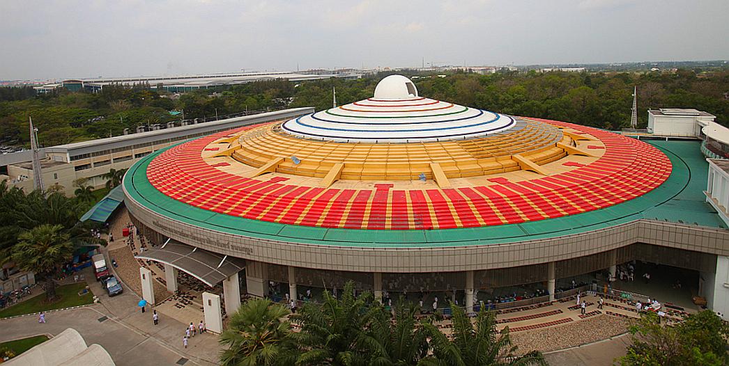UFO jídelna - Wat Phra Dhammakaya - Thajsko