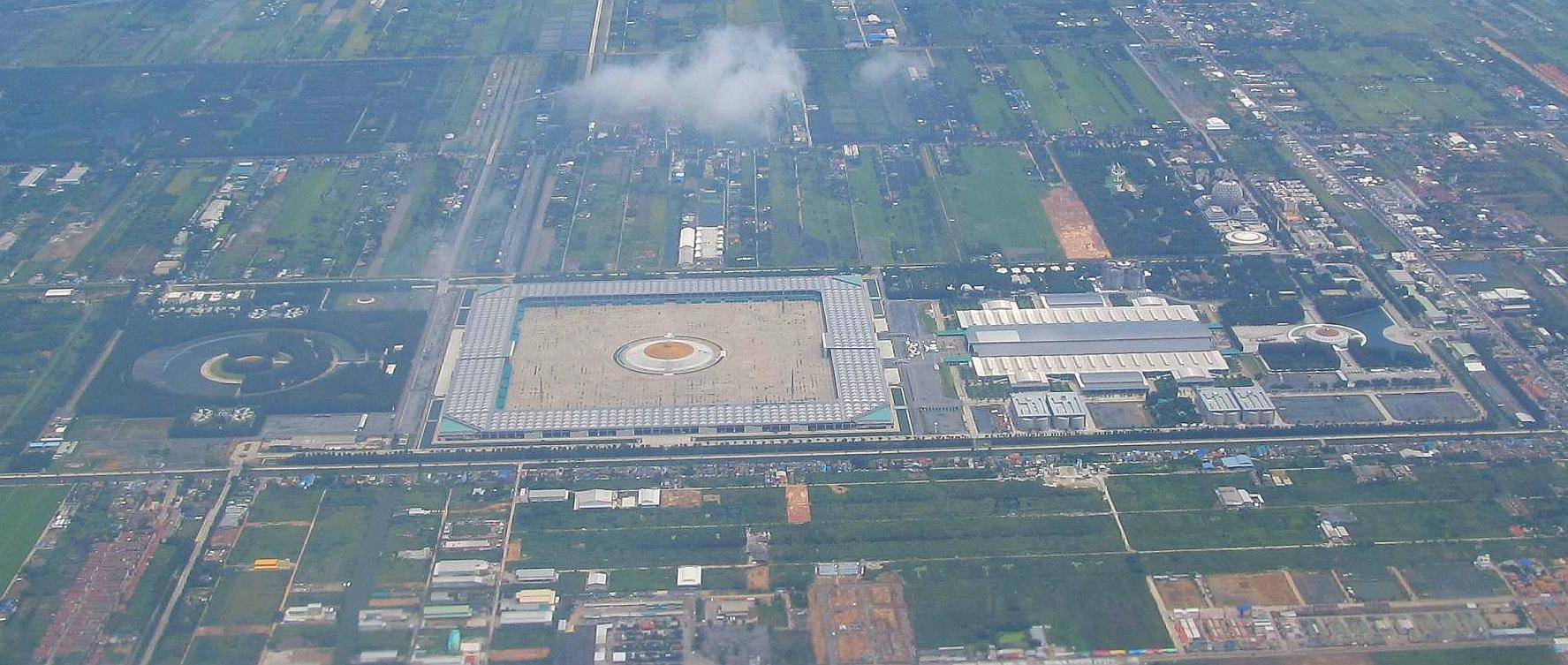 Letecký snímek Wat Phra Dhammakaya Thajsko