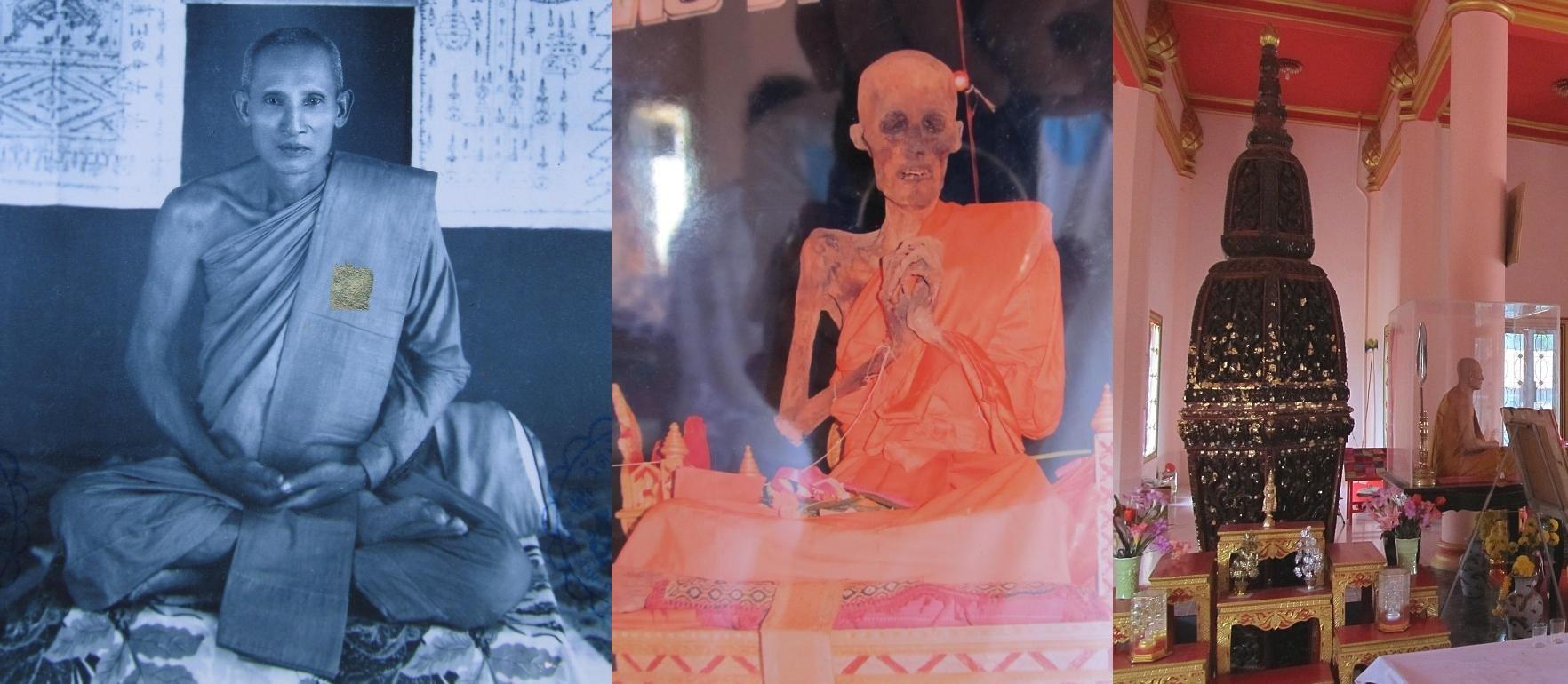 Opat Wat Chi Pa Khow je nově uložen uvnitř dřevěné nádoby - Ang Thong - Thajsko