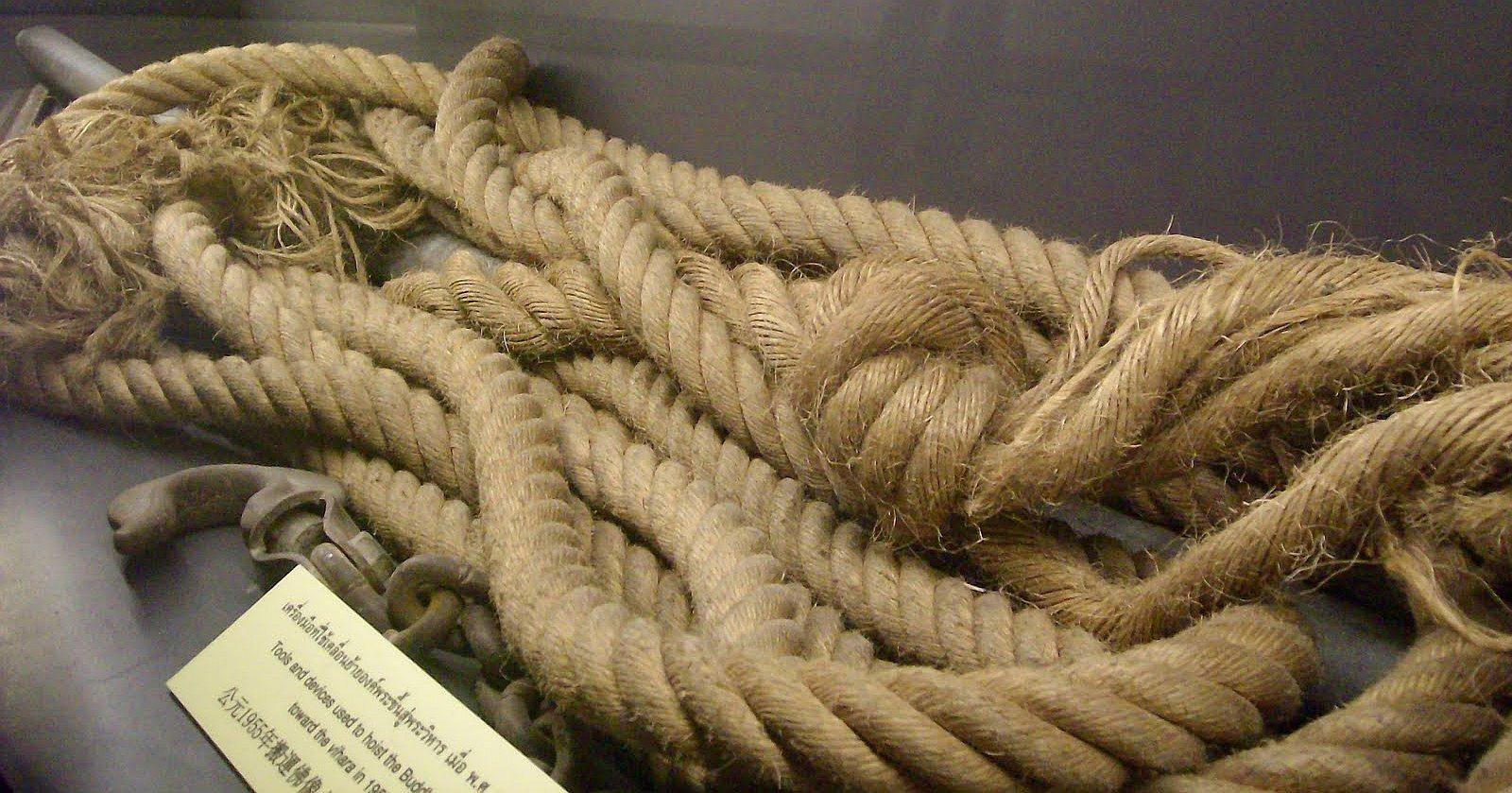 Originální přetržené lano - Wat Traimit
