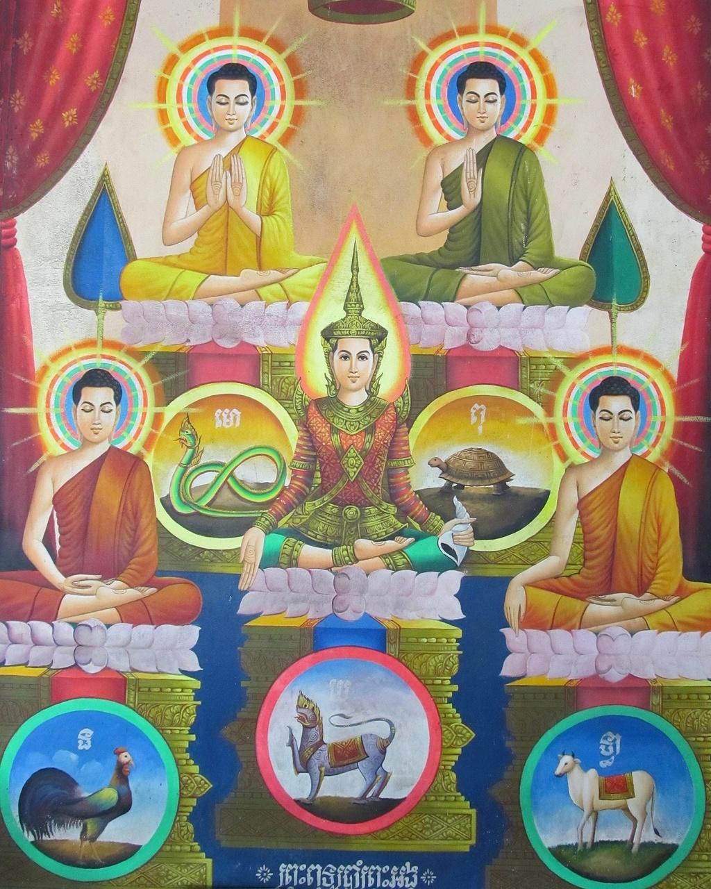 Pět Buddhů - Sihanoukville - Kambodža