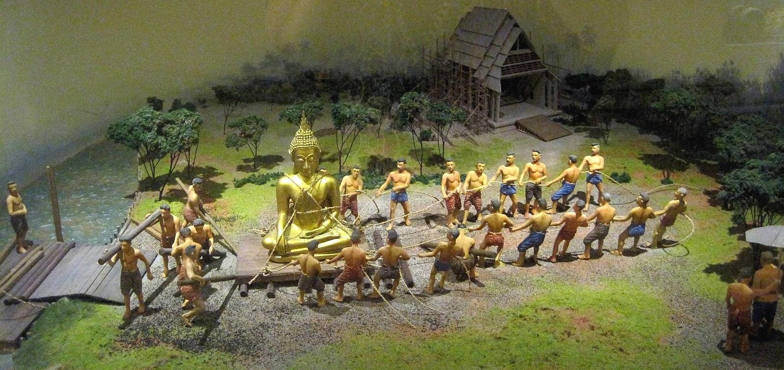 Vyobrazení přeprava Zlatého Buddhy do Wat Chotanaram