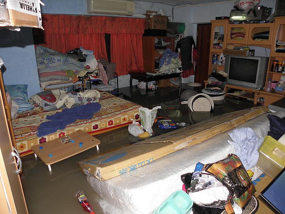 Jedna z povodní v Reného bytě