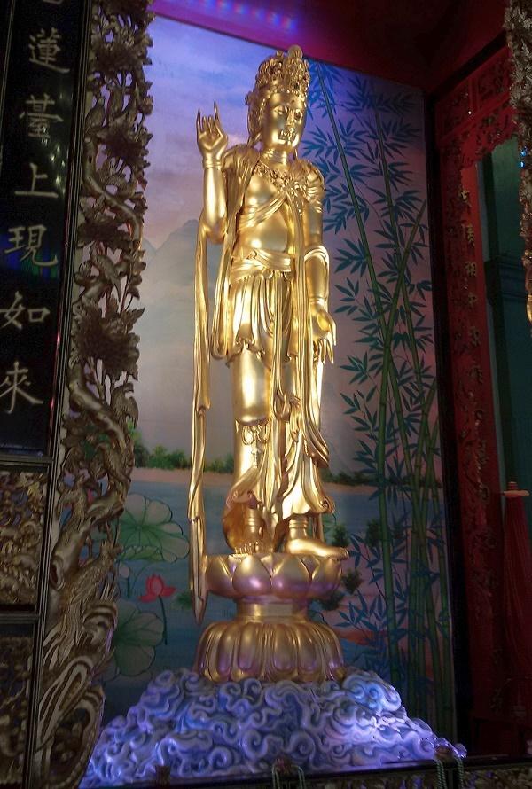 Kuan jin v čínské čtvrti Bangkok