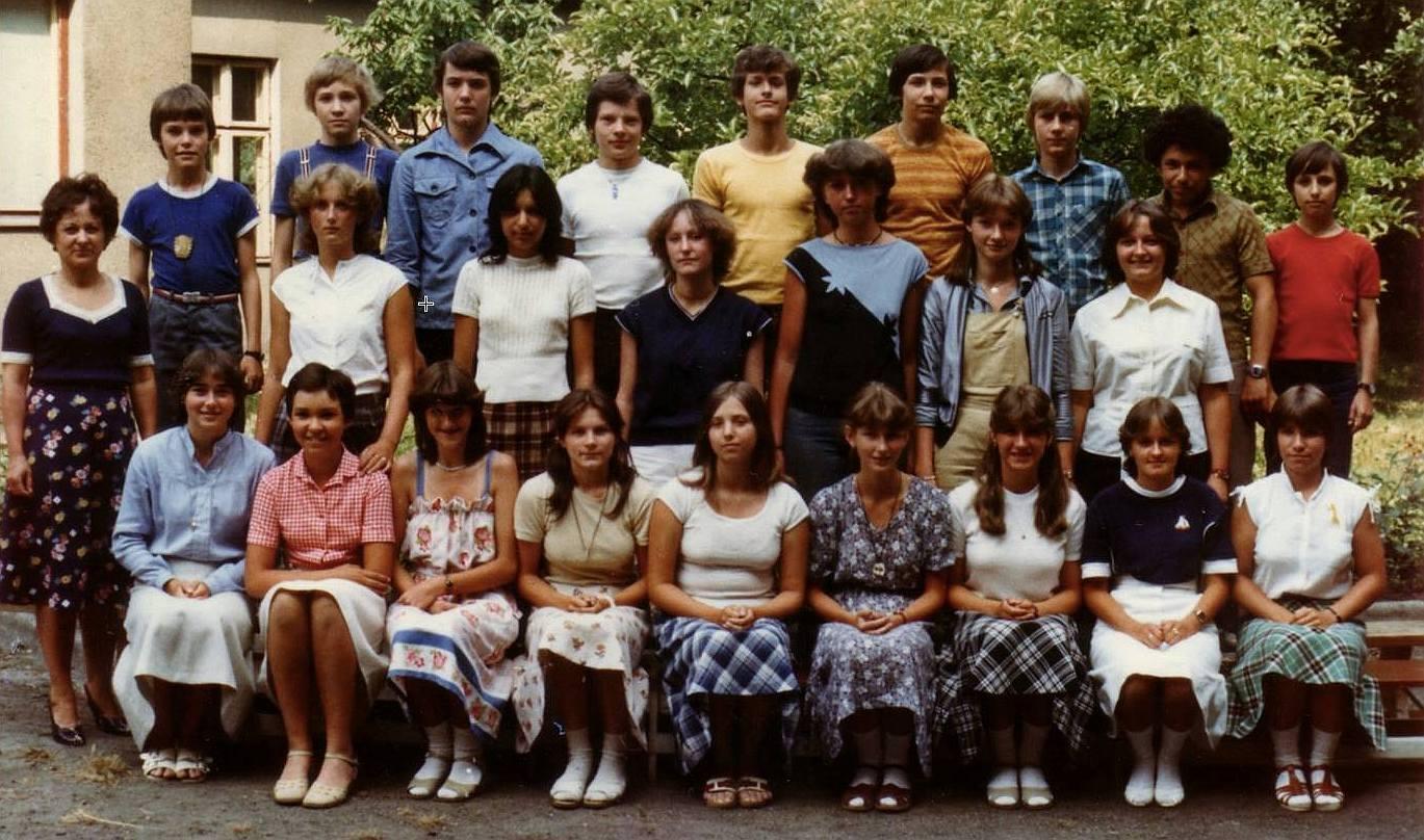 René Kroc, ZŠ Teplice 1981 - třetí z leva nahoře