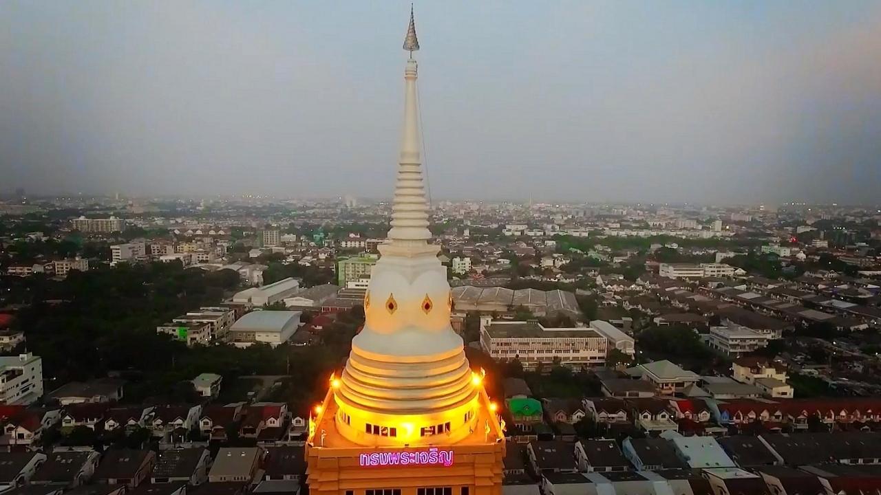Wat Dhammamongkol bílé čedí