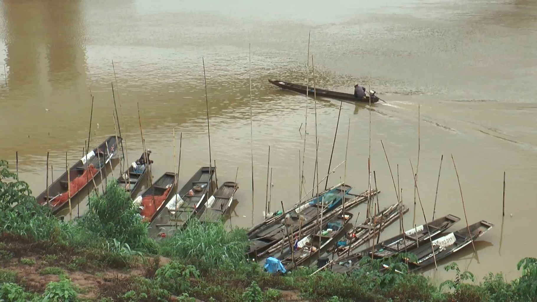 Laoští rybáři na řece Mekong